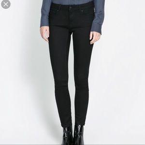 Zara Basic Black Classic Skinny Jeans Pants